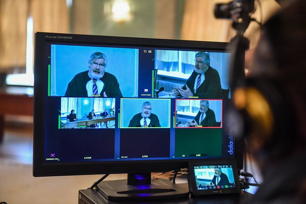 Impressionen der virtuellen Pressekonferenz am 24. April 2020